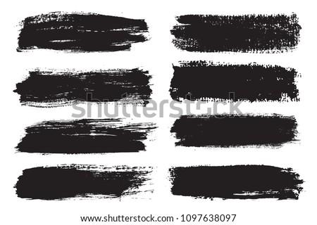 Set of grunge banners.Grunge brush strokes. #1097638097
