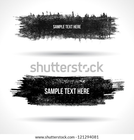 Set of grunge banners. Watercolor background. Retro background. Vintage background. Business background. Abstract background. Hand drawn. Texture background. Abstract shape