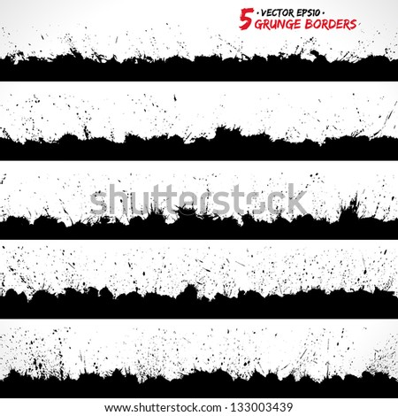 Set of grunge borders. Grunge background, Grunge brushes. Retro background. Vintage background. Design elements. Grunge texture. Business background. Texture background. Abstract shapes
