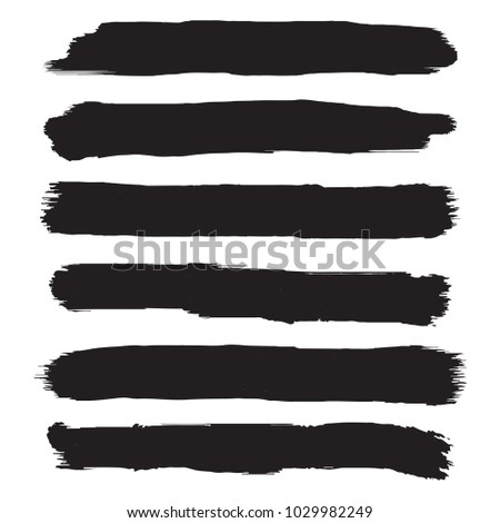 Set of grunge brush strokes. Hand painted watercolor brush strokes #1029982249