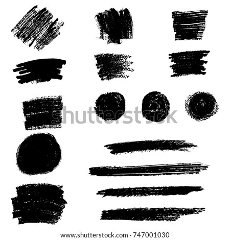 Set of grunge hand drawn elements and textures for graphic design #747001030