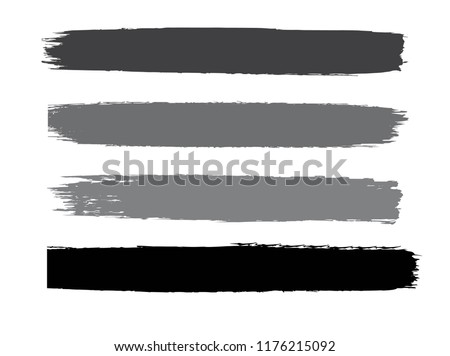 Set of grunge lines. Isolated stock vector design template #1176215092