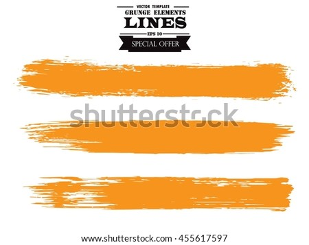Set of grunge lines. Isolated stock vector design template