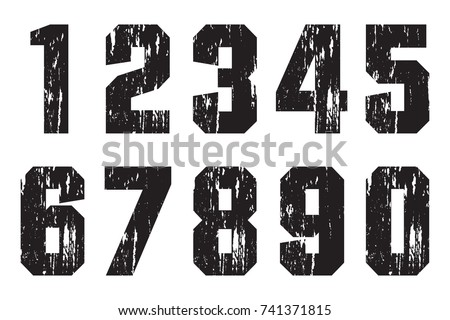 Grunge Camera Vector : Set of grunge numbers.vector dirty numbers. ez canvas