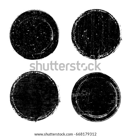 Set of grunge post stamps.Vector distress stamps.
