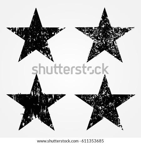 set of grunge starsvector