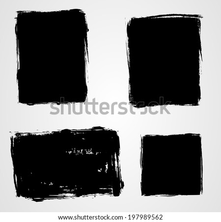Set of grunge template backgrounds - vertical and horizontal banners
