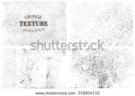 Set of grunge textures.Vector distress overlay textures. #358806110