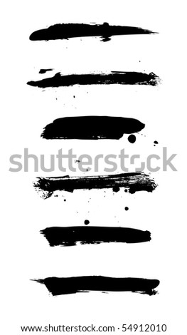 Set of grungy banners on white