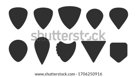 set of guitar picks different