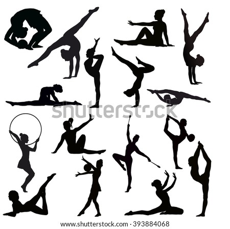 stock-vector-set-of-gymnasts-vector-silhouettes