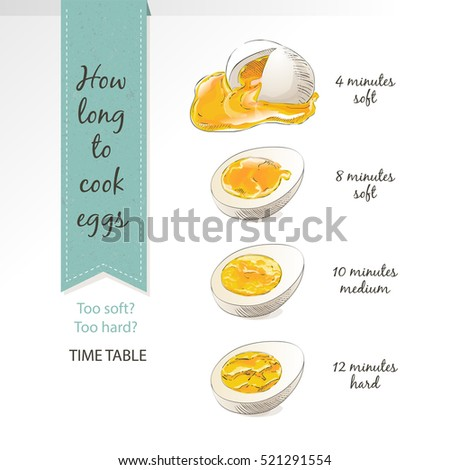 set of half  sliced eggs