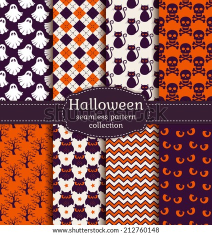 set of halloween backgrounds