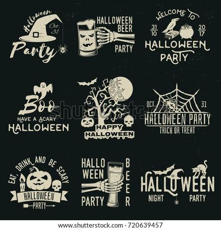 set of halloween celebration