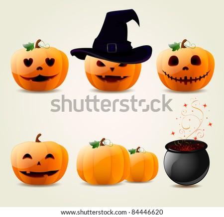 Halloween Pumpkin Set - Download Free Vector Art, Stock Graphics ...