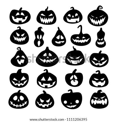 stock-vector-set-of-halloween-scary-pumpkins-flat-style-vector-spooky-creepy-pumpkins