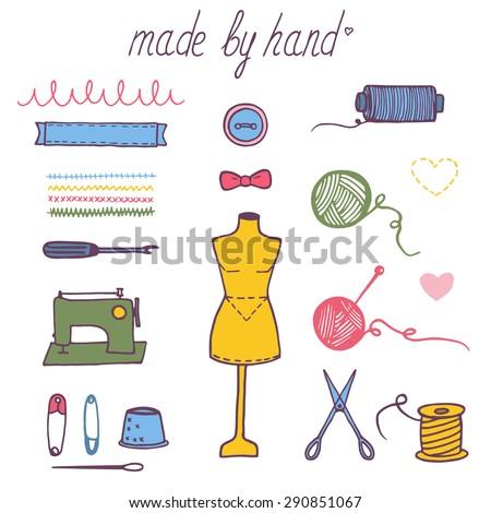 set of hand draw vector