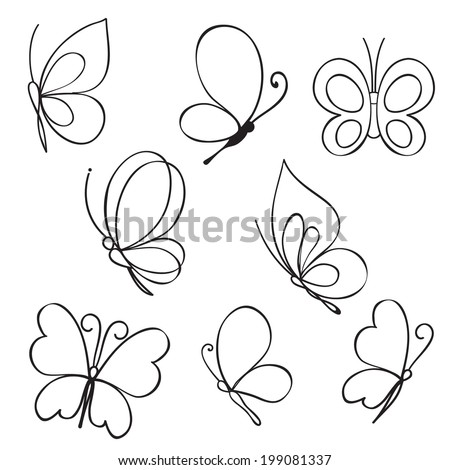 stock-vector-set-of-hand-drawn-butterflies