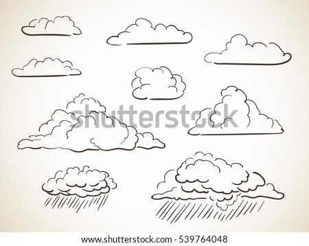how to draw sirrus clouds in pencil
