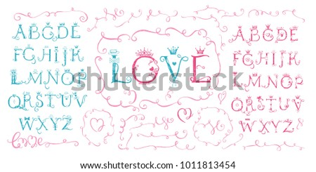 Cute Sketchy Hand Drawn Vector Alphabet Download Free Vector Art