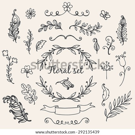 Free Floral Elements Vector Download Free Vector Art Stock