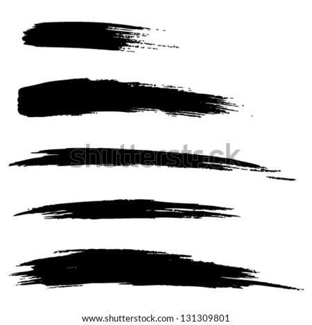 """""""Set aus Hand gezeichneten Patina  Pinsel Linien, Vektor-Illustration"""""""