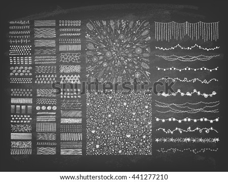 stock-vector-set-of-hand-drawn-string-holiday-or-christmas-garland-lights-collection-of-small-objects