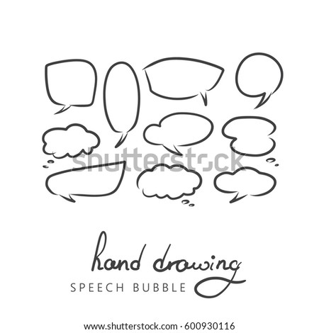 set of hand drawn think and
