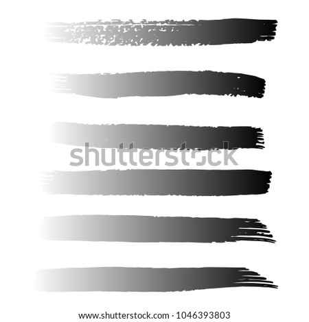 Set of Hand Painted Black Brush Strokes. Vector Grunge Brushes. Vector Frame For Text Modern Art Graphics For Hipsters.  Dirty Artistic Creative Design Elements. Perfect For Logo, Banner. #1046393803