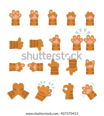 set of hands icons  emoji