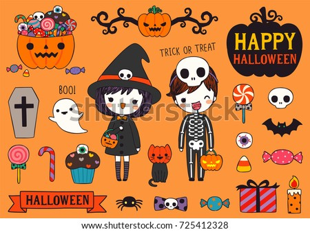 Free Flat Halloween Vector Elements Collection - Download Free ...