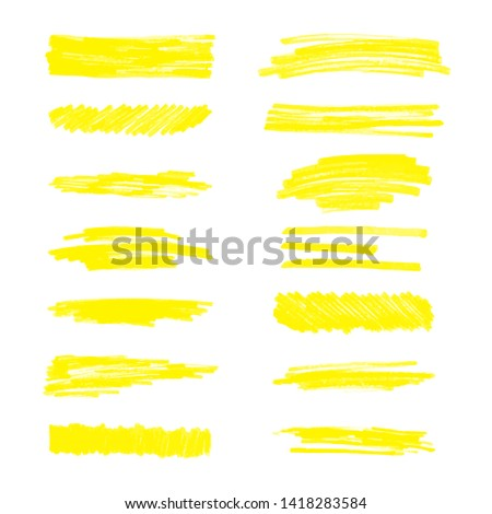 Set of hatching or doodle splotches of textures vector illustration isolated on white background. Collection of paint marker grunge elements for sketch style design.