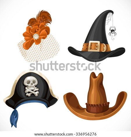set of hats for the carnival