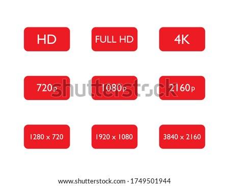set of hd  full hd and 4k