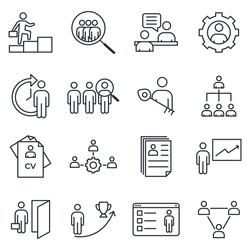 Set of Headhunting icon. Headhunting And Recruiting pack symbol template for graphic and web design collection logo vector illustration