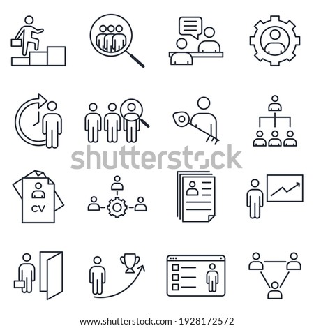 Set of Headhunting icon. Headhunting And Recruiting pack symbol template for graphic and web design collection logo vector illustration Stock photo ©