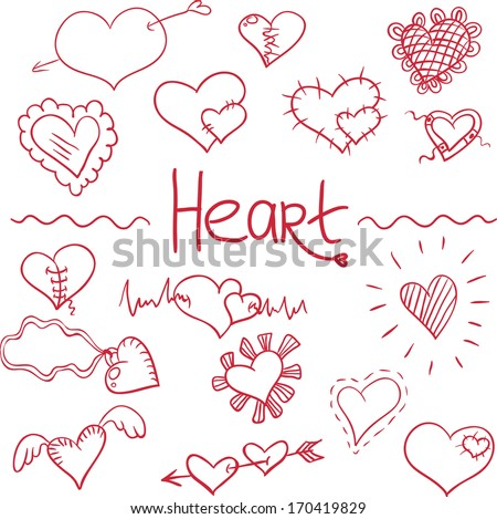 set of  hearts for your design