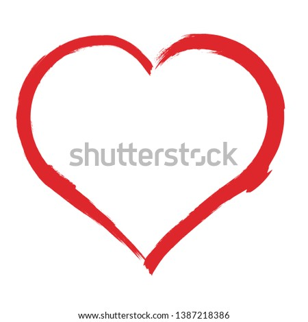 Set of Hearts . Grunge stamps collection.love Shapes for your design.Distressed symbols. Textured Valentine's Day signs.Vector illustration. #1387218386
