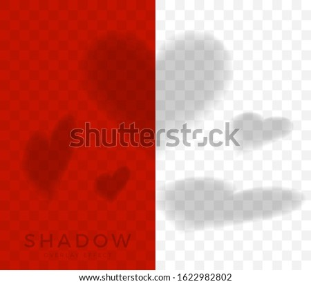 set of hearts shadow overlay