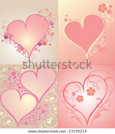 Set of hearts to the Valentine's day, vector. See my gallery for more