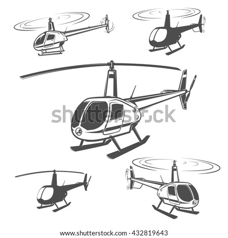 Set of helicopter,helicopter design,helicopter vector.