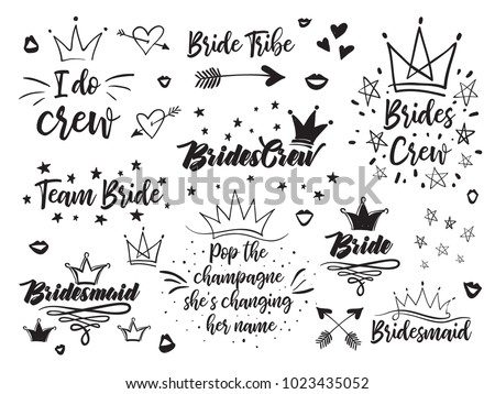 set of hen bridal and
