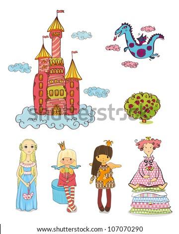 set of heroes of fairy tales