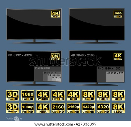 set of high dynamic range tv