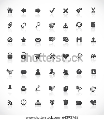 Set of 49 high quality web and office icons - stock vector