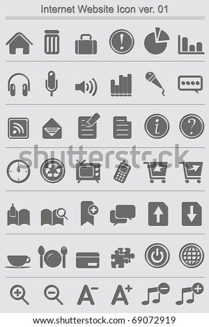 Set of 42 high quality web and office icons