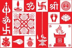 Set Of Hindu Symbols