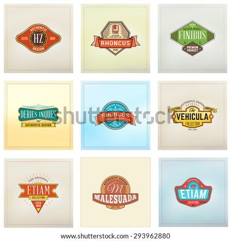 set of hipster retro badges