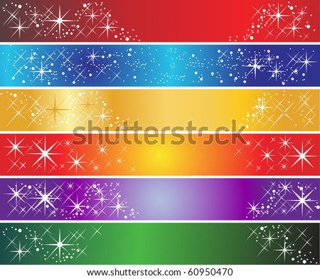 Set of 6 holiday banners