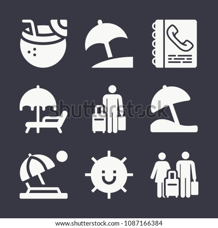 set of 9 holidays filled icons